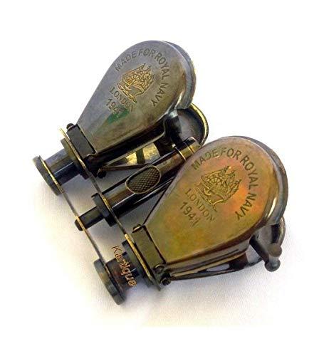Indian Handicrafts Export Kartique Classic Marine Spy Glass Antique Royal Navy London Brass Binocular Collectibles Gift