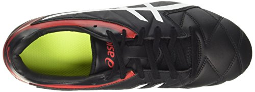 Asics Lethal Scrum, Chaussures de Rugby Homme Multicolore (Black/white/vermilion)