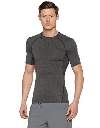 Under Armour Herren Heatgear Fitness Funktionsshirt, Carbon Heather, 2XL (Kompression Armour Under Shirt)