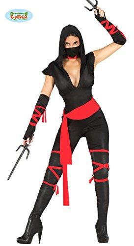 Fiestas Guirca Kostüm Ninja Japan schwarz rot M, -