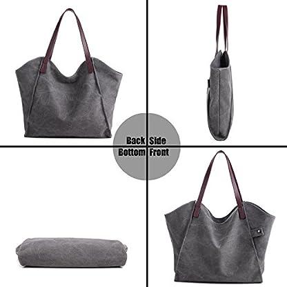 LOSMILE Women s Canvas Handbags Top-Handle Hobo Shoulder Bag Tote ... 45d6deceeb197