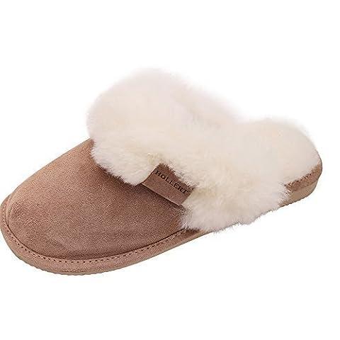 Lammfell Hausschue Pantoffeln Malibu weiß Schuhgröße EUR 38
