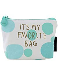 Qinlee Woman Lady Mini Coin Purse Zipper Wallet Key Holder Wallet Small Canvas Wallet Pouches Makeup Comestic...