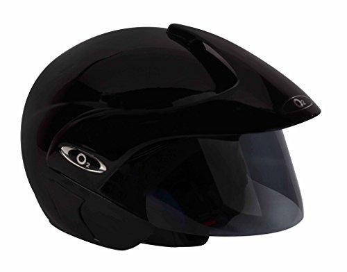 O2 Riderswear Open Face Helmet,(Black,M)