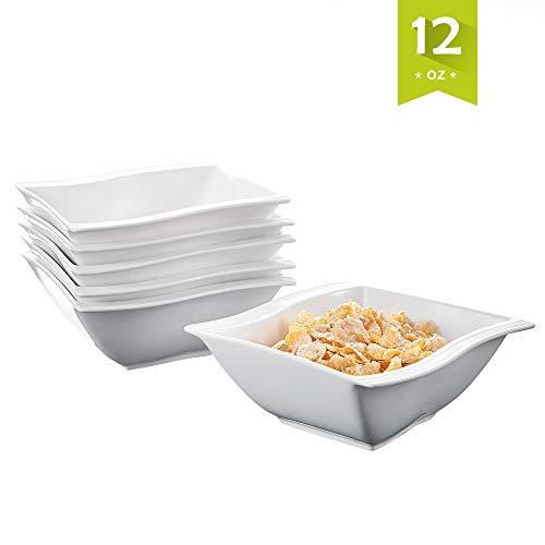 MALACASA, Serie Flora, 12 TLG. 5,75 Zoll Porzellan Schüsseln Set Salatschüsseln Dessertschalen Rührschüsseln für 12 Personen