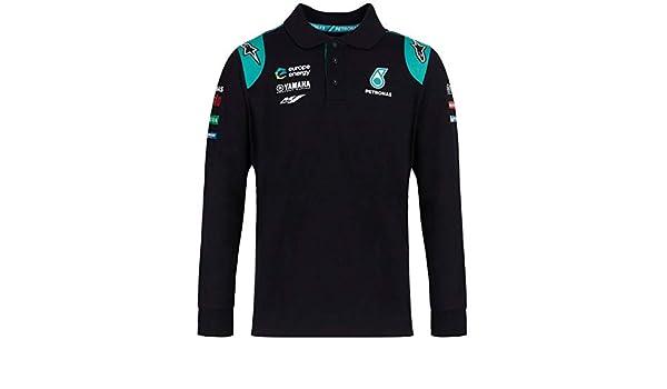 Petronas Chemise Polo Moto GP Team Noir Fabio Quartararo Officiel 2019