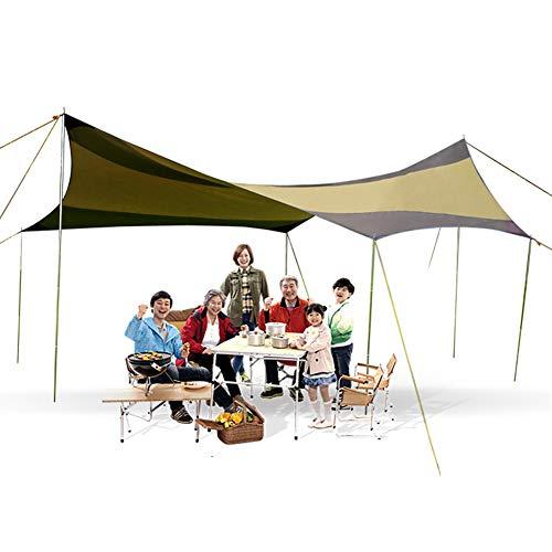 Camping Tarp Markise Tragbare Ripstop Sonnenschutz Plane Leichtes Auto Vordach für Reisen Wandern Rucksack Angeln