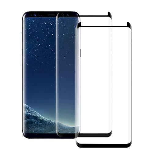 ONSON Galaxy S8 Panzerglas Schutzfolie, Displayschutzfolie für Samsung Galaxy S8 Panzerfolie Displayschutz Gehärtetem Glass 9H Härtegrad, Anti-Kratzen, Einfaches Anbringen (2 Stück)