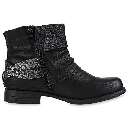 napoli-fashion , Bottes Motardes femme noir/argenté