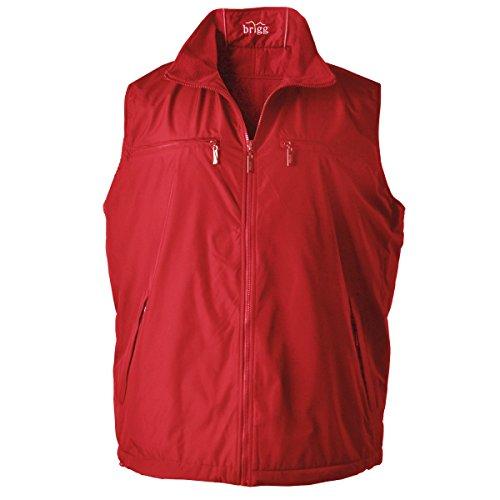Brigg Wende-Weste mit Fleece Übergrößen rot Rot