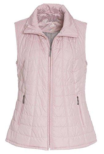 MICHÈLE BOYARD Leichte Steppweste - Damen Weste offene Form Strick Strickweste rosa,48