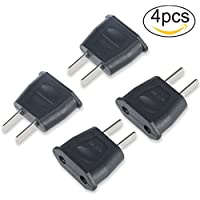 Yosemy [4 Pcs] Adaptador Conversor Enchufe Clavija Europeo EU Europa a USA Canadá Japón China etc