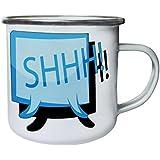 Nuevo Arte Del Logotipo Del Shhh Retro, lata, taza del esmalte 10oz/280ml m175e