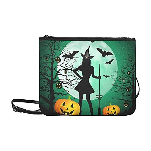 (WYYWCY Happy Halloween Custom hochwertige Nylon Slim Clutch Crossbody Tasche Umhängetasche)
