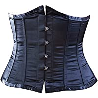 Killer Corsets Women's Corset Satin Black Waist Clincher Shaped Underbust