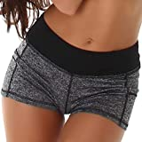 StyleLightOne Damen Hotpants Pole Dance Cheerleader Yoga Pants Shorts Fitness Schwarz 38 40 (XLXXL)