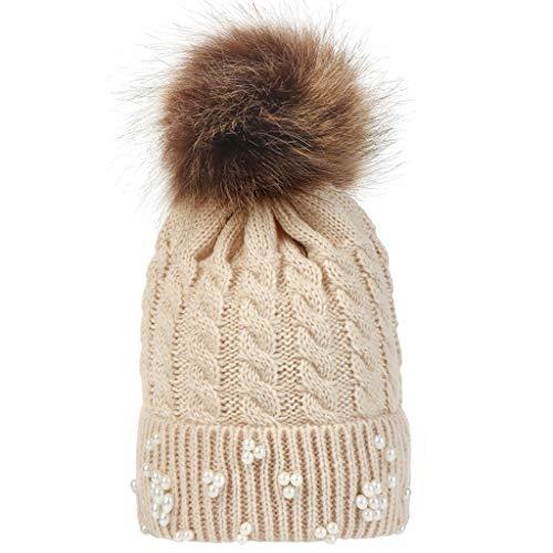 HAOLIEQUAN Pom Tricot Bonnet Hiver Haute Qualit/é /Épaissir Hedging Bonnet De Ski Os B/éb/é Gar/çon Fille Enfants Ski Au Chaud