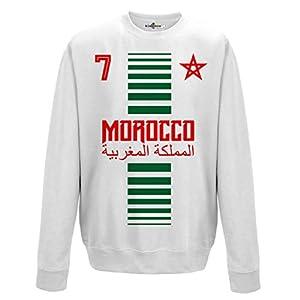 crewneck Pullover Sweatshirt manner National Sport Marocco Marokko 7 fussball Sport Afrika Stella 2 KiarenzaFD Streetwear