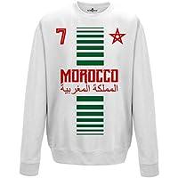 KiarenzaFD Sueter de Cuello Redondo Sudadera Hombre Nacional Deporte  Morocco Marruecos Maroc 7 Futbol Deporte Africa f08331dbc3b4f