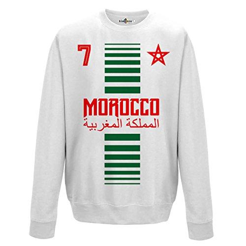 KiarenzaFD Crewneck Pullover Sweatshirt Manner National Sport Marocco Marokko 7 Fussball Sport Afrika Stella 2 M