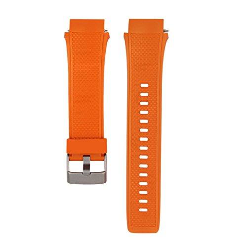20mm Koly Koly moda deportiva correa de silicona pulsera banda para reloj Huawei 2 (naranja)