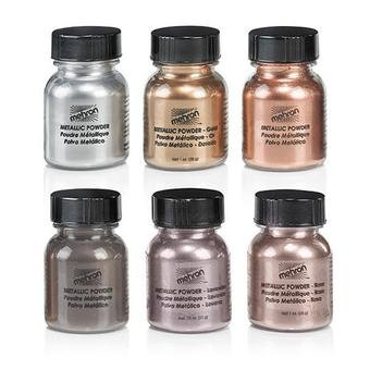 Mehron Metallic Powder Paint (Single Pot OR Set With Mixing Liquid) (Gold 28g)