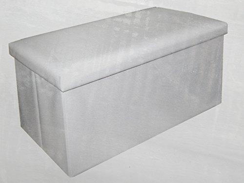 CASASELECCION Sitzsack Aufbewahrungsbox doppelt klappbar Kunstleder weiß 76x 38x 38cm