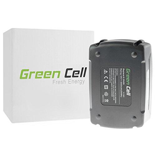 Preisvergleich Produktbild Green Cell® Elektrowerkzeug Akku für Metabo BS 18 LTX BL Q I 602351840 (Li-Ion Zellen 3000 mAh 18V)