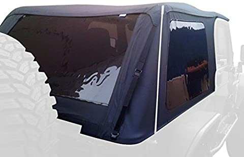Rampage Products 109935 Black Frameless Soft Top Kit with Tinted Windows for Jeep Wrangler JK Unlimited 2-Door by RAMPAGE PRODUCTS