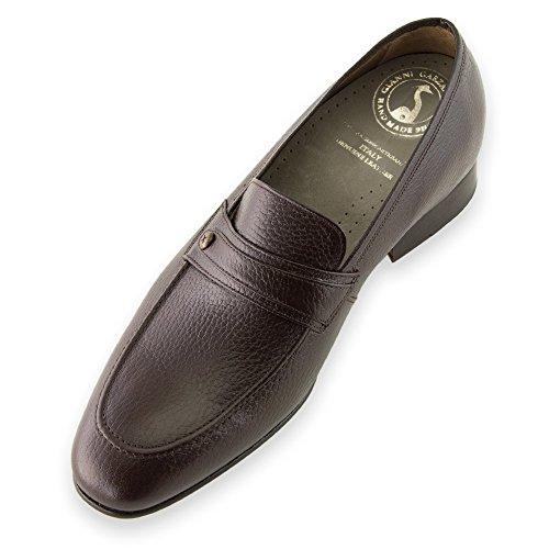 Masaltos Chaussures Réhaussantes Pour Homme avec Semelle Augmentant la Taille JusquÀ 7cm. Fabriquées en Peau. Modèle Bruxelles Marron