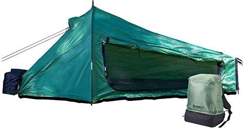 Semptec Urban Survival Technology Semptec Zelte: Ultrakompaktes Rucksack-Tunnelzelt für 1 Person, 1.500 mm Wassersäule (Einmannzelt)