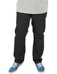 King Size Taille Hommes Extensible Jeans Carlos Duke Rockford Denim Noir Pantalon