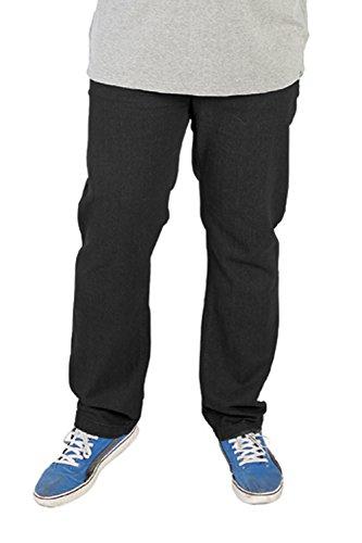Duke Rockford RJ920 Carlos Hommes Jeans Extensible Noir