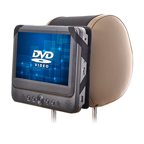 WANPOOL Auto-Kopfstützenhalterung für tragbare 7 Zoll DVD-Player mit schwenkbaren Monitor (DVD-Player ist nicht inklusive) Portable Dvd Player Case