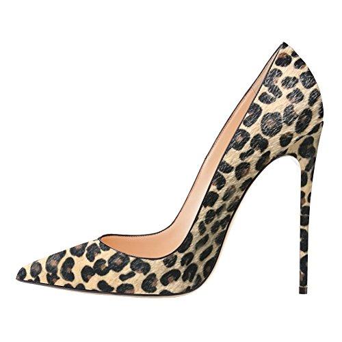 EKS , Sandales Compensées femme Leopard-Faux Horsehair