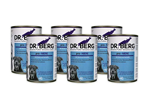 Dr. Berg pro-NIERE Nassfutter für Hunde: Diätfutter bei Nierenproblemen & Niereninsuffizienz (6 - Berg Hundefutter Dr