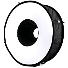 Selens 45cm Softbox Universal Redondo/ Anillo Plegable Difusor de Flash Ventanas de Luz Suave para Canon Nikon Sony Yongnuo Speedlight