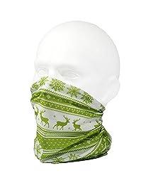 CLASSIC NORDIC WINTER/REINDEER DESIGN SCARF - GREEN - RUFFNEK® Multifunctional Neckwarmer Ski mask - Men, Women & Children from RUFFNEK® OUTDOORS