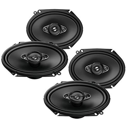 Pioneer Front/Heck 5x7/15x20cm Auto Lautsprecher/Boxen/Speaker Komplett-Set für Mazda