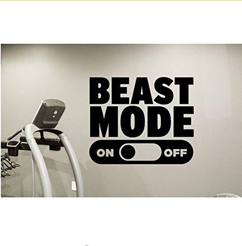 Ljtao Tier Modus Wandtattoo Fitness Motivation Gym Vinyl Aufkleber Dekor Wandbild