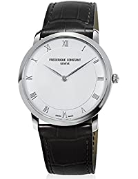 Frederique Constant Slimline Stainless Steel Mens Strap Watch Silver Dial FC-200RS5S36