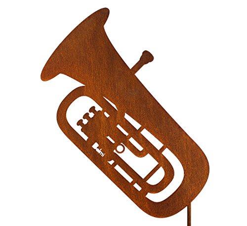 Gartenstecker Tuba - Schönes Geschenk für Musiker