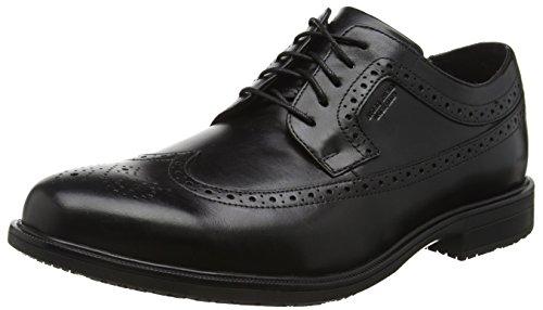 Rockport Essential Details Ii Apron Toe, Chaussures à Lacets Homme Noir - Noir (cuir noir)