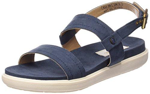 Wrangler Damen Magnolia Plateau Blau (16  Navy)