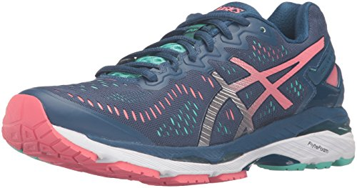 Asics Gel-Kayano Femmes Synthétique Chaussure de Course Poseidon-Silver-Cockatoo