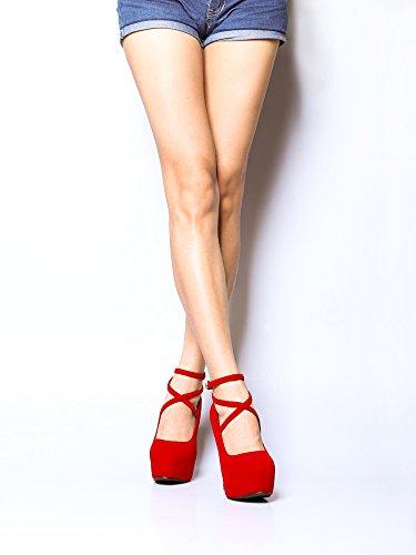 OCHENTA OCHENTA Scarpe col tacco donna #11 Red