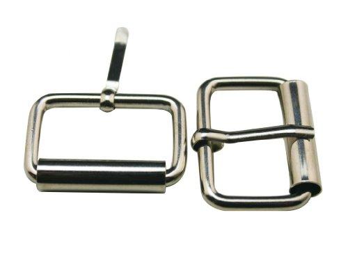 Amanaote Metall silbrig 2,5cm Innen Länge Rechteck Schnalle Gürtel Schnalle Handtasche Schnalle Gepäck Zubehör