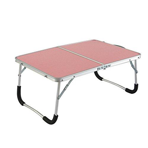 Meng Wei Shop Aluminiumlegierung Klappcomputer Schreibtisch Bett Frühstückstisch Portable Laptop Tisch (Color : Pink) - Portable Shop Schreibtisch