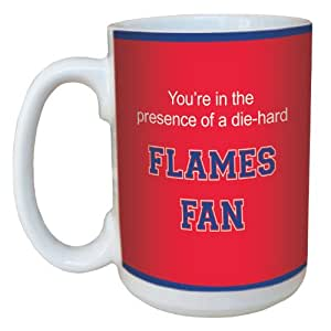 Tree-Free Greetings lm44473 Flames College Football Fan Ceramic Mug with Full-Sized Handle, 15-Ounce