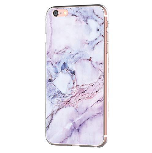 iPhone 6 iPhone 6s hülle Tasten Fonts Schutzhülle Clear Case Cover Bumper Anti-Scratch TPU Silikon Durchsichtig Handyhülle für iPhone 6 Plus/6s Plus (Apple iPhone 6 Plus/6s Plus, Marmor 1)